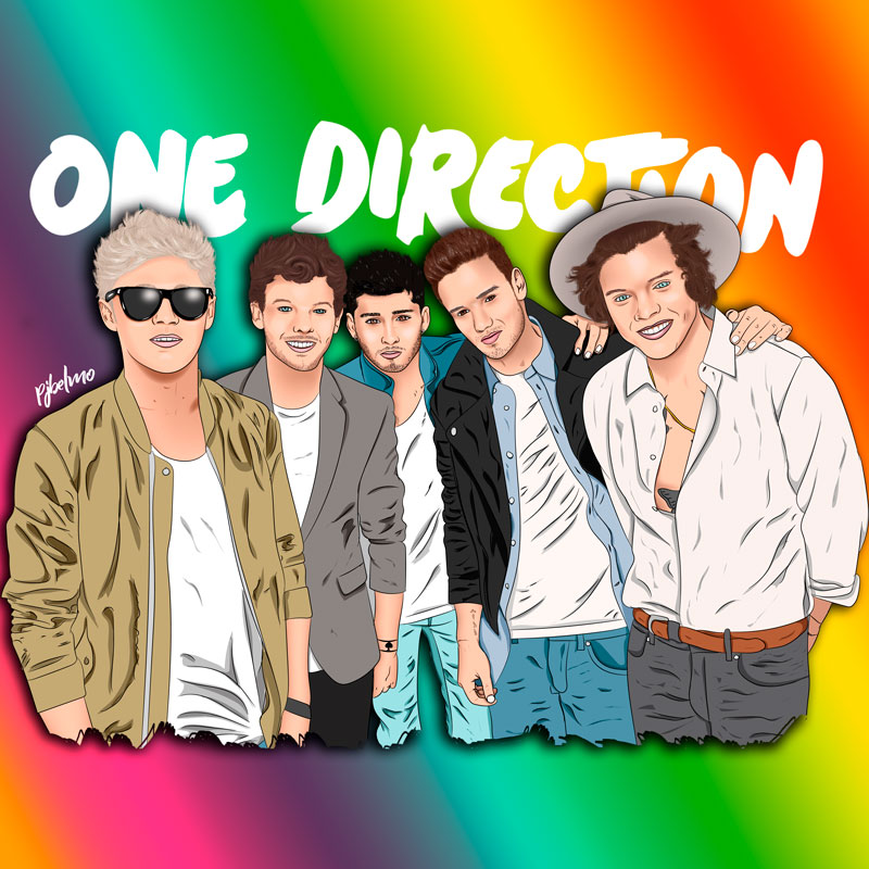 one direction ilustración