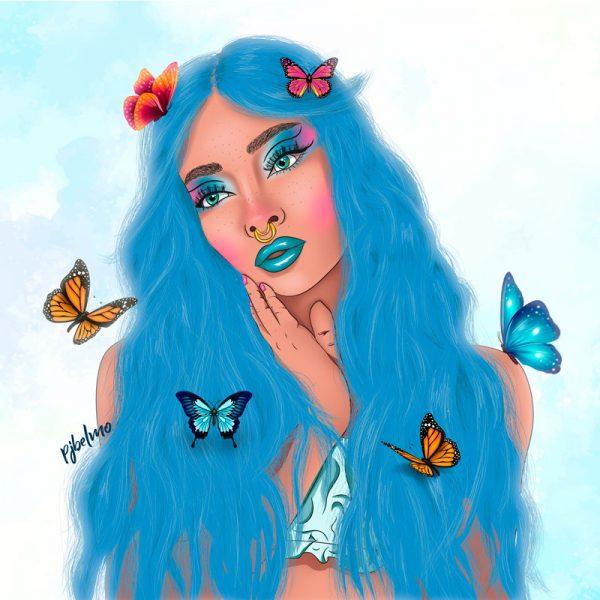 azul cuadro