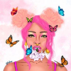 rosa cuadro
