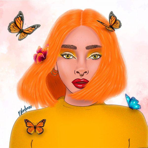 naranja cuadro