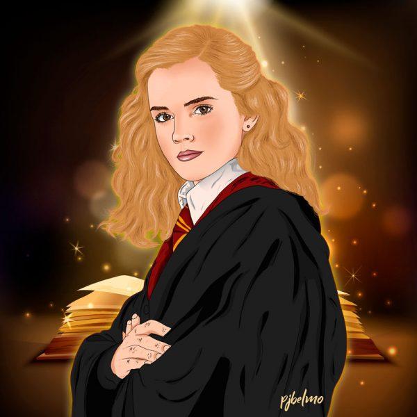 hermione ilustracion