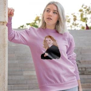 sudadera hermione rosa